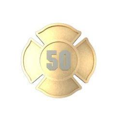 NYC Jewelers White Fire Dept Maltese Shaped Firefighter Department Logo Big Metal 0.75 Lapel Hat Pin Tie Tack Pinback